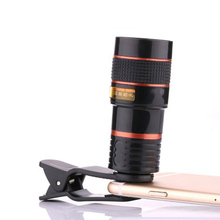 8x 12x Mobile Phone Lens Clip Optical Zoom Telescope Lens HD