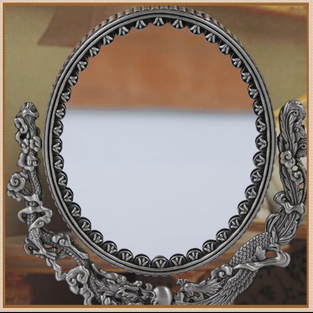 Ev ve Bahçe'ten Dekoratif Aynalar'de Avrupa çift yüzlü retro büyük boy masa ayna makyaj masası aynası hediye büyüteçli ayna ev dekor için büyük aynalar J027'da  Grup 2