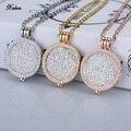Новый 35 мм монета держатель ожерелье подвеска fit 33 мм монеты белый кристалл Рождество женщины подарок ювелирные изделия медальон длинные цепи