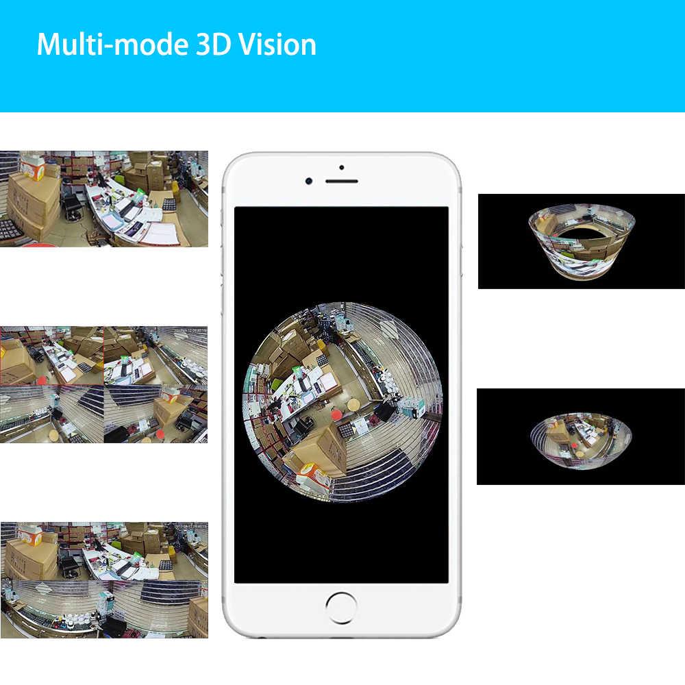 Autoeye 3D рыбий глаз 960 P 1.3MP VR ip-камера 360 градусов домашняя Wi-Fi камера системы безопасности панорамная