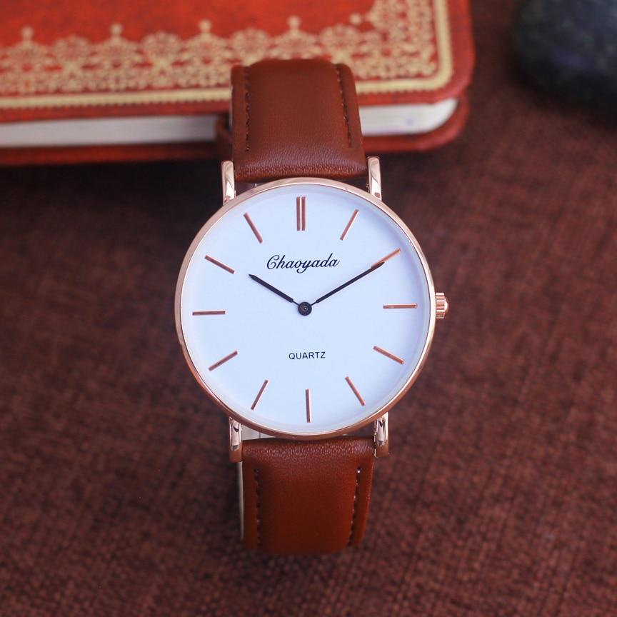 2019 New Style Men Women Fashion Leather Quartz Wristwatches Old Men Fashion Business Waterproof Luxury Ultra-thin Cool Watches