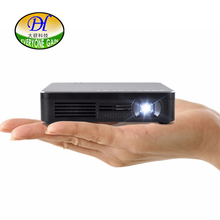 Todo el mundo Ganancia WIFI Proyector DLP Portátil Mini Pocket Size DH-A300 Multimedia Video Proyectores LED Gaming con 120 Pantalla Negro