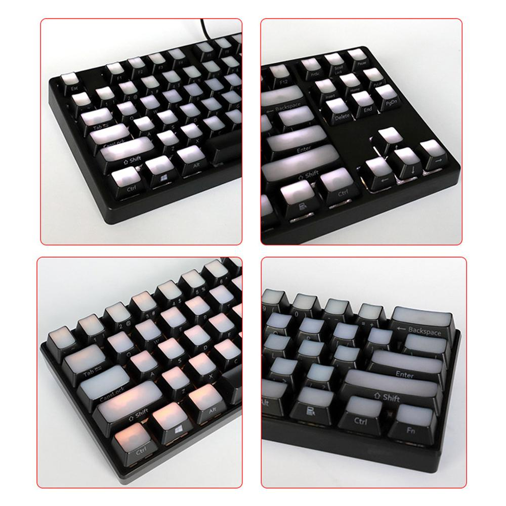 Image 3 - RGB Front/Side Printed Backlit Keycaps ISO ANSI Layout Translucidus Backlit Keycaps For Corsair K65 K70 Logitech G710 Cherry MXKeyboards   -