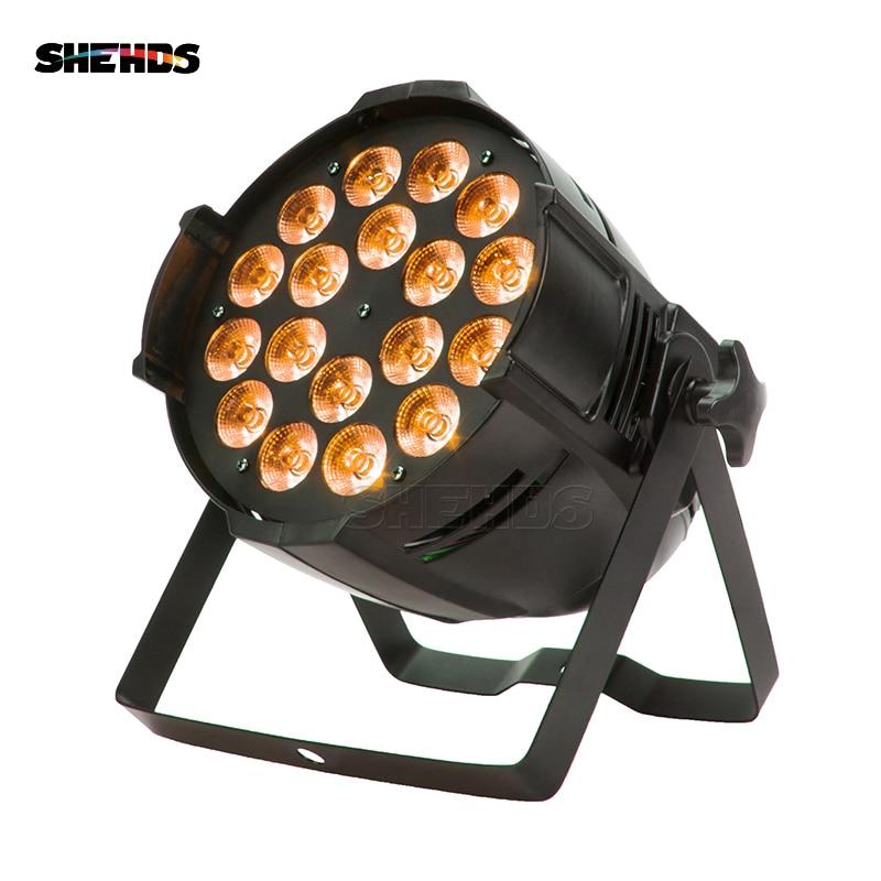 8 pcs/lot LED Par Alliage D'aluminium 18x18 w LED Lumière RGBWA + UV 6IN1 LED Lumière DJ de la Scène lumière DMX LED Par Lumières de Partie