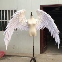 Реквизит для свадебной съемки косплей фотосъемка костюм ангел демон крыло мультфильм перо Крылья ангела для модных показов