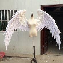 Свадебный съемки реквизит Косплэй фотографии игра костюм ангела демон крыло мультфильм перо Крылья ангела для модные выставки