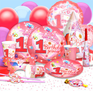 Childrens Birthday Party Supplies 1 Year Old Baby Girl Decoration Props Wholesale Decorations