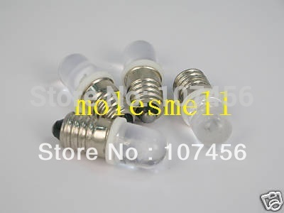Free Shipping 10pcs White E10 3V Led Bulb Light Lamp For LIONEL 1447