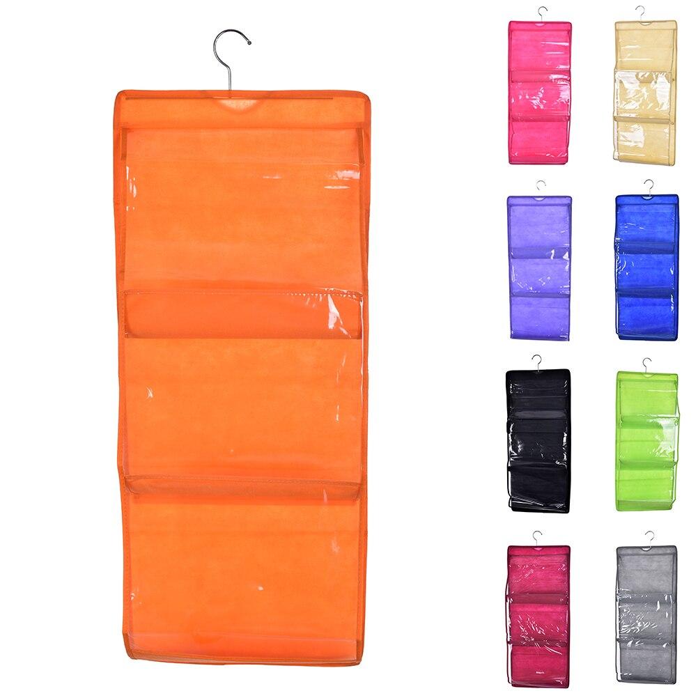 armario organizador del armario de armario colgador perchas de rack con bolsillos monedero del