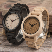 DODO DEER Wood Watch Bezel Mens Fashion Ebony Wooden Band Watches Private Custom Logo Dress Watch Men A10
