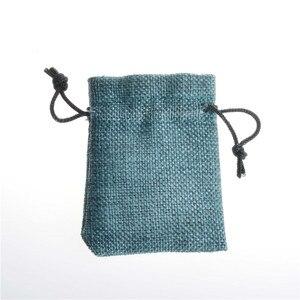 Ручная работа джутовые мешочки для ювелирных изделий кольца в форме конфет чайные праздничные упаковочные мешки на шнурке свадебный мешок ...