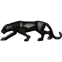 Modern abstract resin leopard statue geometric black panther sculpture wild animal figurine home decoration accessories furnitur