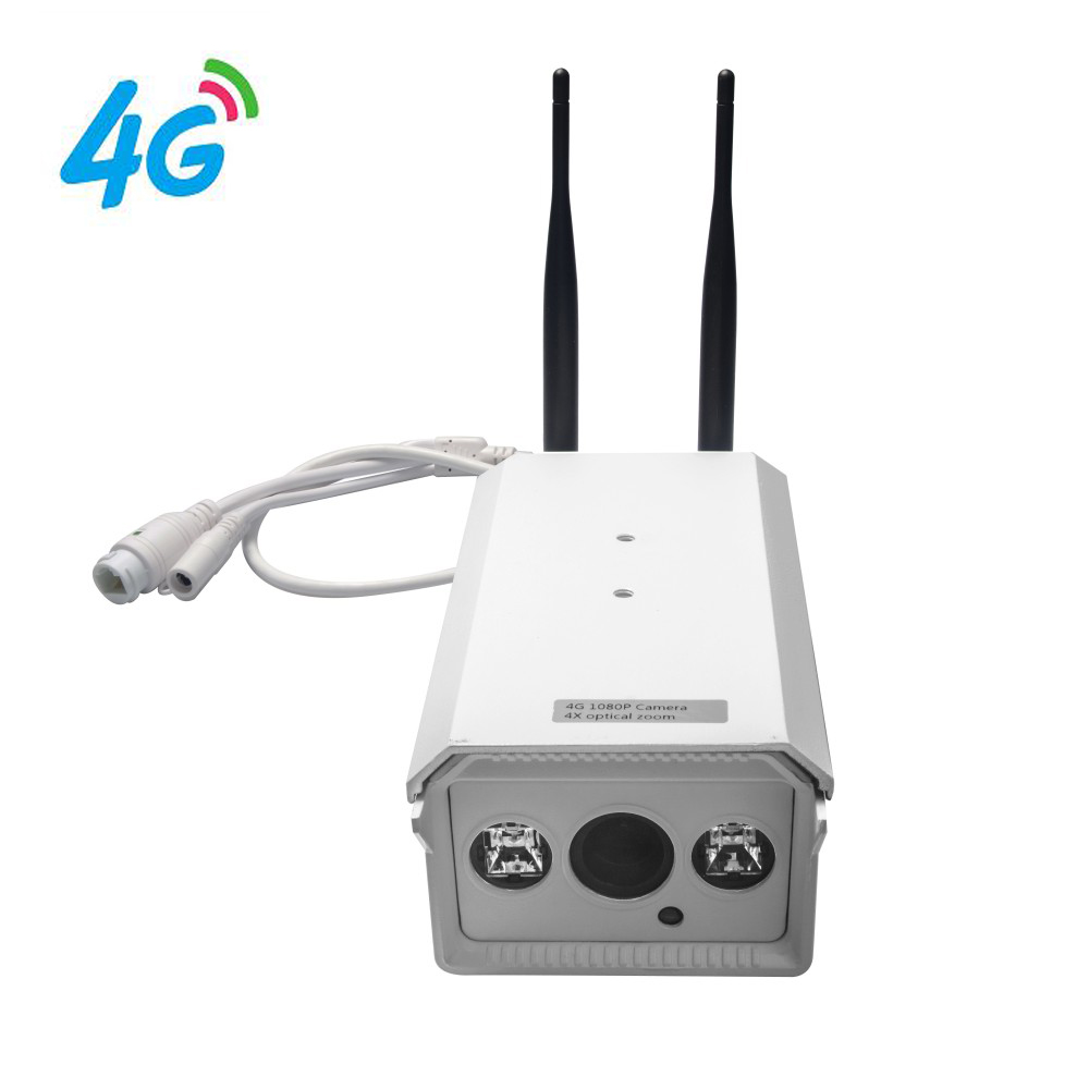 4G Mobile Bullet 960P HD IP Camera with 4G FDD LTE Network Worldwide Free APP for