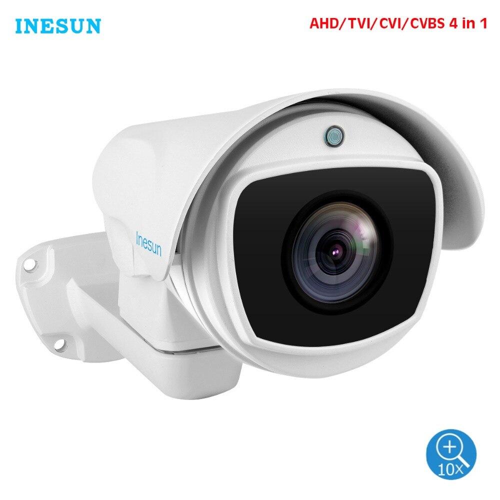 Inesun Outdoor PTZ Camera 2MP 1080P 10X Zoom 4 In 1 HD AHD CVI TVI CVBS