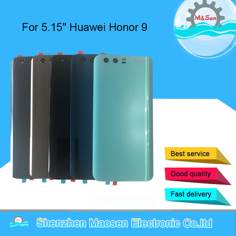 Cover Housing Honor 9 Sticker Glass Huawei Original M for Back-Battery Lens-Tools Lens-Tools