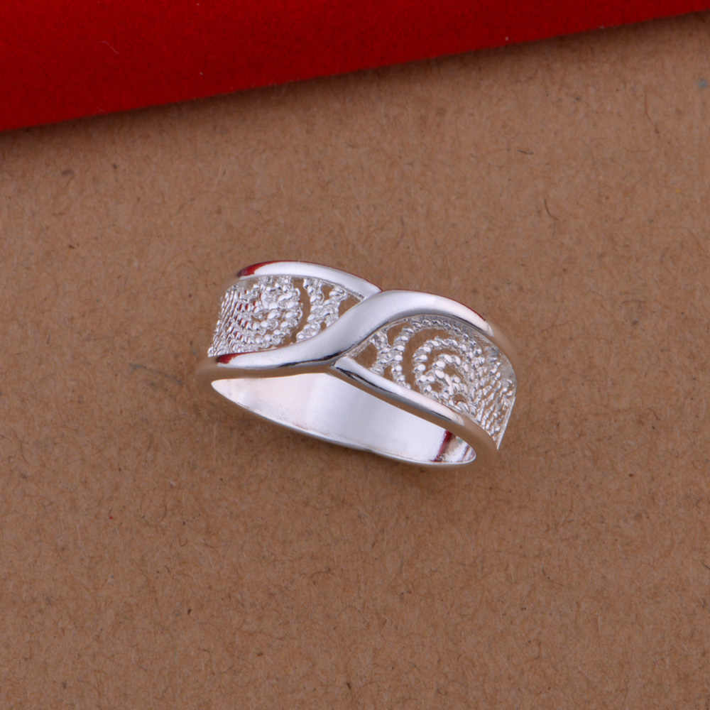 Gorgeous Rounded Hollow Shiny Ring Wholesale Price 925 Fashion Jewelry Silver Plated Ring Engagemetn/Wedding Party Jewelry