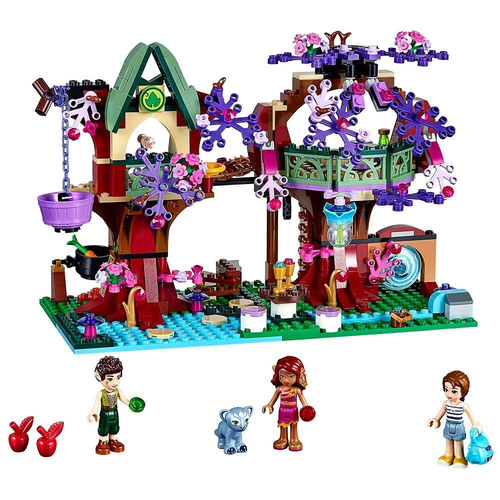 органайзер для проводов hideaway средний белый коричневый 1228054 BELA Elves The Elves Treetop Hideaway Building Blocks Kits Model Toys Bricks Marvel compatible with legoe