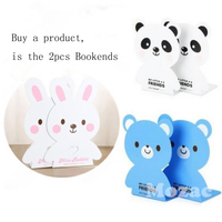 2 Pcs Hot Set Metal Bookends Decorative Bookend Cute Animal Book Holder For Reading Support Essential