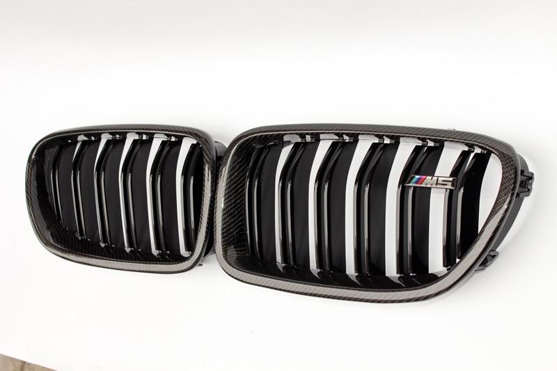 Carbon Fiber racing grill 535i Matte Black ABS Mesh Inserts for BMW F10 5 Series 2010 2016 520i 525d 528i 530i 535i 550i