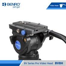 BENRO BV8H Video Kopf Hydraulische Flüssigkeit Video Köpfe QR13 Quick Release Platte Aluminium Video Kopf Max Lade 8kg DHL freies Verschiffen