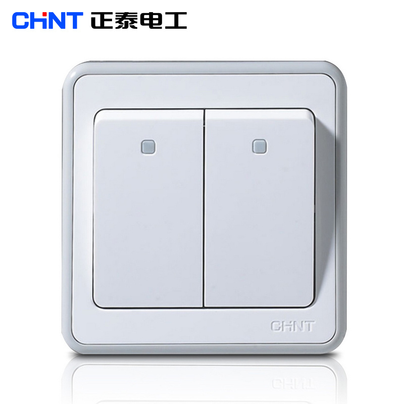 Chint Electric 86 type wall switch socket panel two switch NEW6E two ...