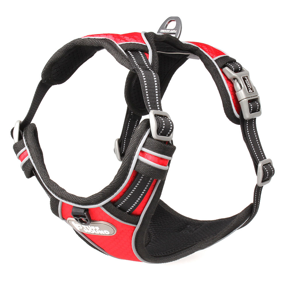 tuff-hound-reflective-nylon-large-pet-dog-harness-collar-service-dog-ves-padded-adjustable-safety-vehicular-lead-for-dogs-pet
