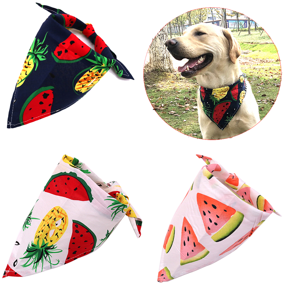 Dog Grooming Imported From Abroad Flamingo Pattern Pet Triangle Cat And Dog Bib Fashion Cotton Double-layer Scarf Pet Beautiful Saliva Towel