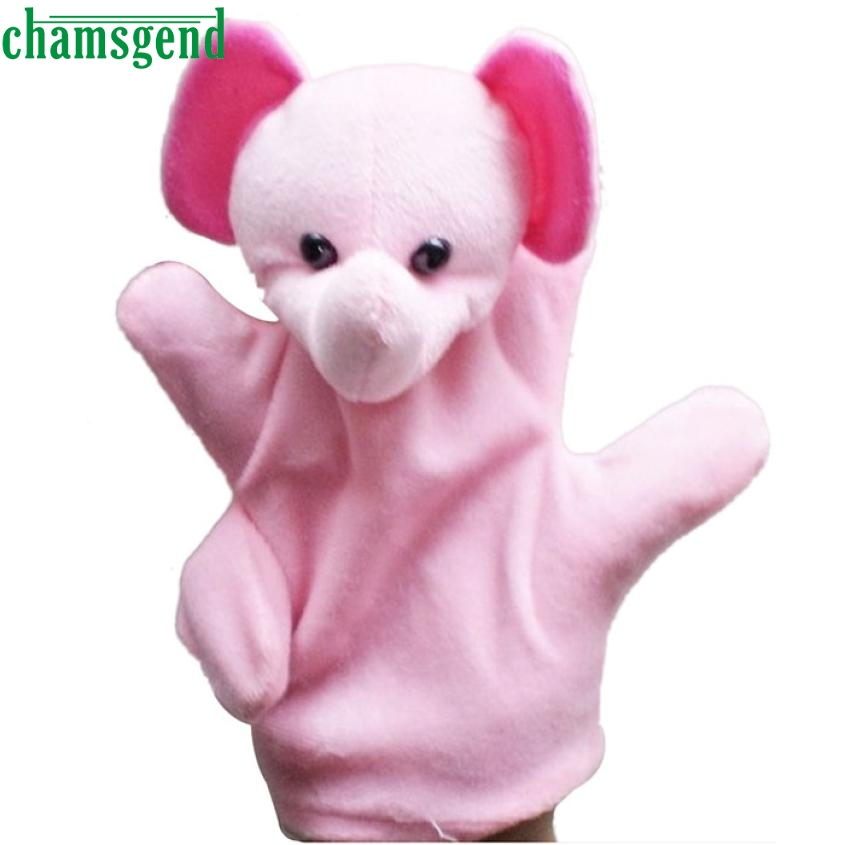 2017 funny Glove Puppet Hand Dolls Cute Big Size Animal Plush Toy Baby Child Zoo Farm Animal Hand Glove Plush Toy Best-seller S7