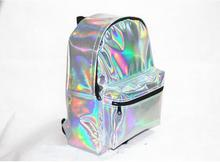 High quality Cute Silver Laser Reflective Holographic Red Bag HARAJUKU Hologram Backpack Small PU Space Schoolbag
