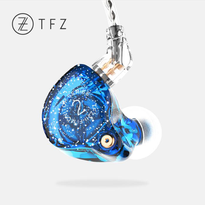 лучшая цена The Fragrant Zither TFZ SERIES 2 fashion Earphone with 2pin Interface HIFI Monitor Sports earphones Dual Dynamic DJ headset