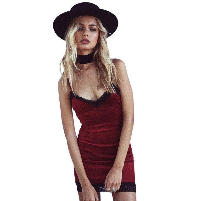 buy popular d10f9 8ed42 US $19.98  Velluto Sexy abito corto donna primavera grigio matita vestito  aderente 2017 Elegante crochet slittamento mini vestito rosso vestidos in  ...