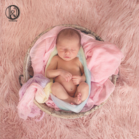 Don&Judy 100x75cm Blanket Photography Props Faux Fur Stuffer Blanket Background Baby Photo Soft Blanket Newborn Photography Prop