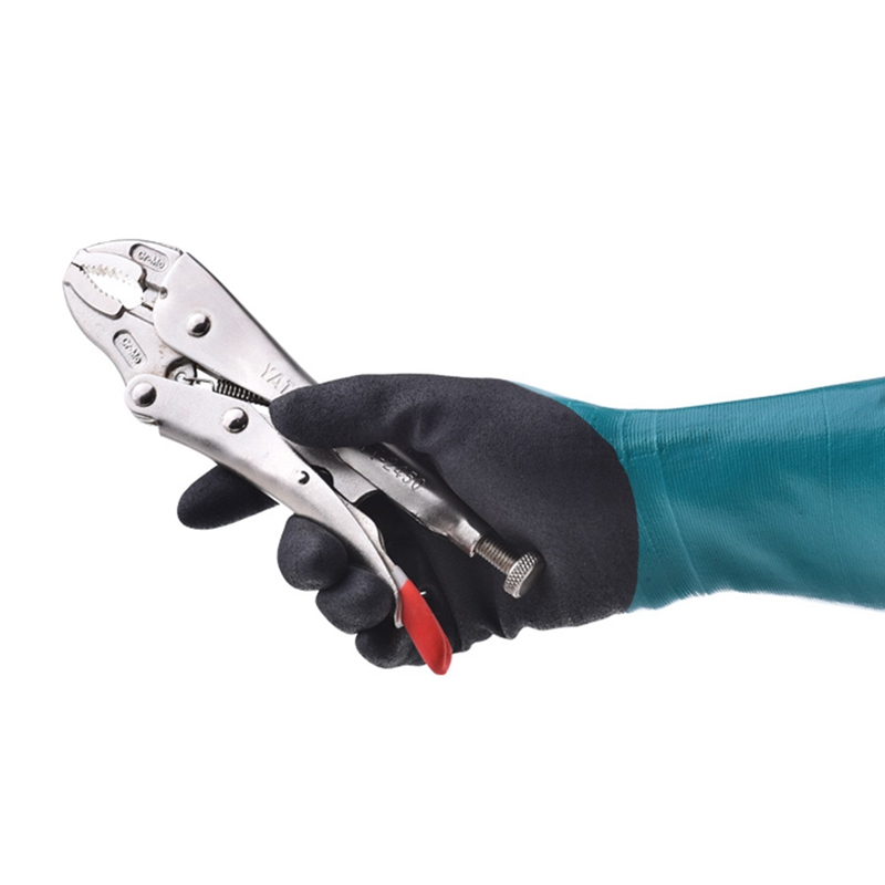 4132 Chemical Resistant Safety Glove Nitrile Fully Dipped Water Proof Labor Glove Oil Resistant Comfortable Antibiotic