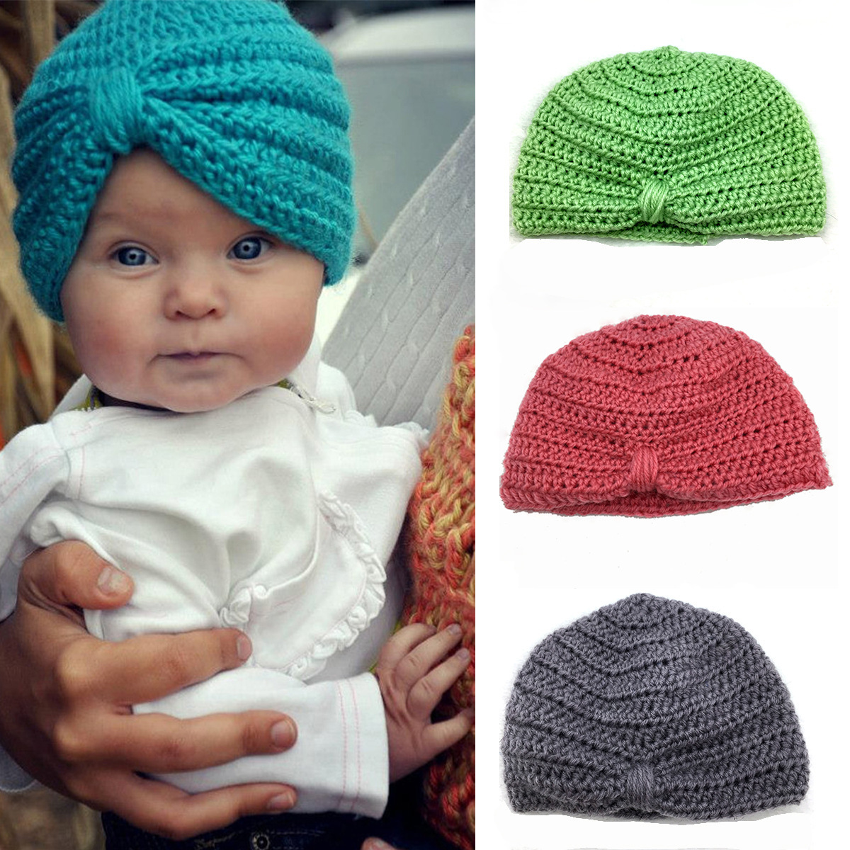 European And American Childrens Hat Knitted Cap, Muslim Hat, Wool Clearance