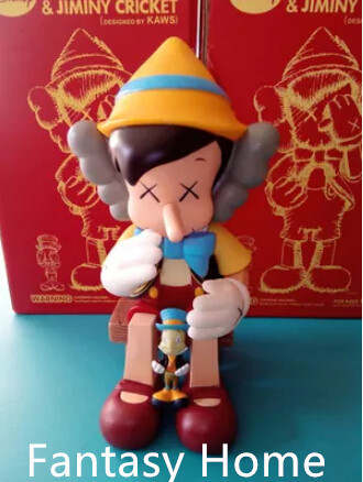 dbf83c85 Hot Sell OriginaFake Kaws Companion Pinocchio&Jiminy Cricket Stand/Sit Pvc  Resin Anime Action Figures With Box Free Shipping-in Action & Toy Figures  from ...