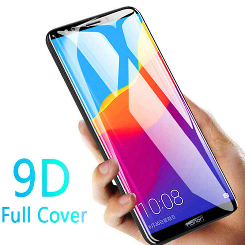 9D Penuh Cover Tempered Glass untuk Huawei Honor 7A 7C Pro Pelindung Layar untuk Huawey Hono 7C 7apro 7 CPRO Pelindung Kaca Film