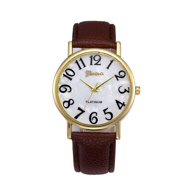 Hot Fashion femmes montres gros numéros rétro en cuir femmes montre-bracelet pour vieil homme et enfant arabe montre Top femme cadeaux # A 5