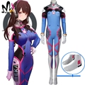 hot game OW cosplay  OW D.VA cosplay costume Halloween costumes for Adult D.VA costume d va sexy jumpsuit custom made