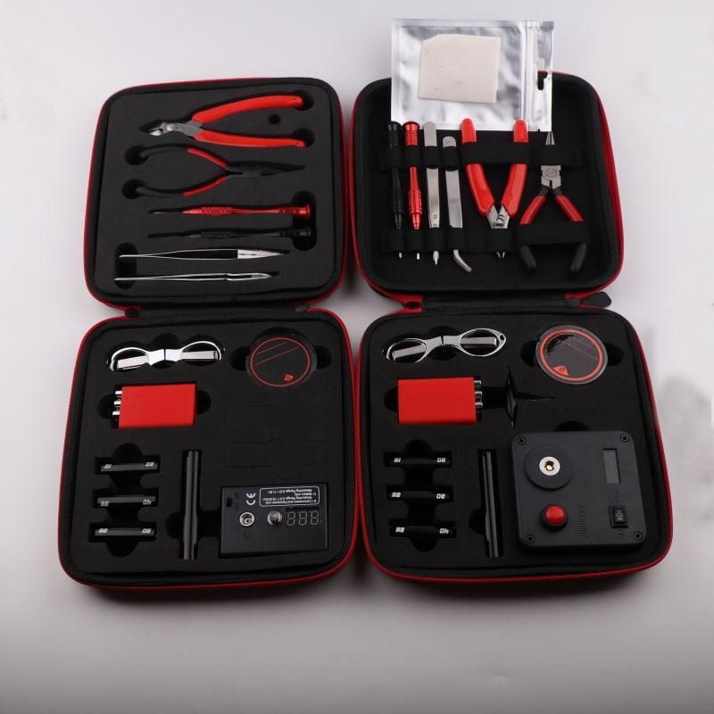 XFKM V2 V3 DIY Kit All-in-One Electronic Cigarette Of Vape Ceramic Tweezers Heat Wire Pliers Tool Bag 521 Mini Tab Scissors