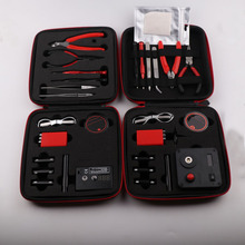 XFKM V2 V3 Kit de bricolage tout en un Cigarette électronique de Vape céramique pince à épiler fil de chaleur pince sac à outils 521 Mini ciseaux à onglets