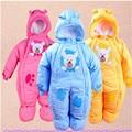 Inverno roupas de bebê quente grosso queda e roupas de inverno bebê recém-nascido de fora no inverno escalada roupas Romper ternos acolchoado