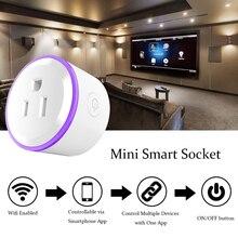 Mini prise intelligente WiFi sans fil prise à distance adaptateur chargeur avec minuterie marche et arrêt Compatible avec Alexa Google Home