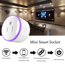Smart Mini Socket Plug WiFi Wireless Remote Socket Adaptor charger  with Timer on and off Compatible with Alexa Google Home