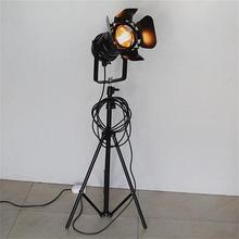Retro Industrial Loft Floor Lamps Restaurant Coffe Bar Clothing Store Lighting Studio Living Room Background Art LED Spot Light