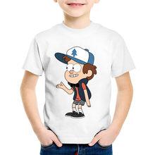 Cartoon Print Gravity Falls Mabel Dipper Children T-shirts Kids Funny Summer  Tee shirt Tops Baby Clothing For Boys Girls,HKP438 56aa236bec44