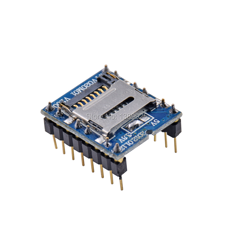 10PCS/LOT WTV020 WTV020-SD WTV020SD-20SS Mini SD Card MP3 Sound Module For PIC WTV020-SD-16P