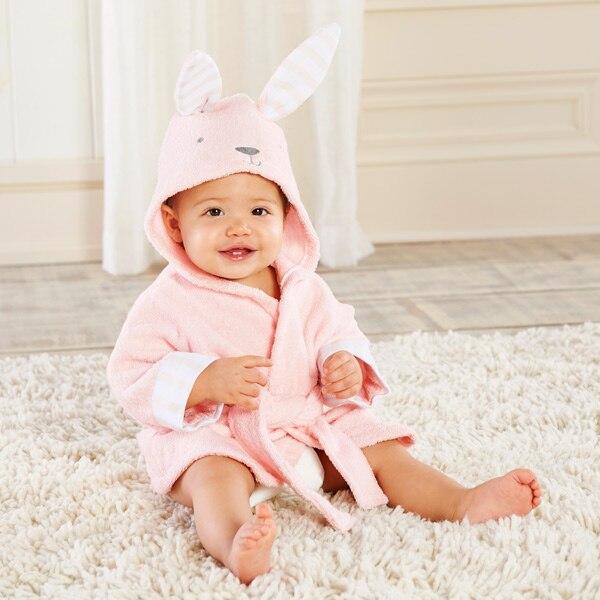 Розничная ; банные халаты для малышей; детское банное полотенце; Банное полотенце с капюшоном для младенцев; банный халат с рисунками животных; модельный банный Халат - Цвет: bunny0-2Y baby