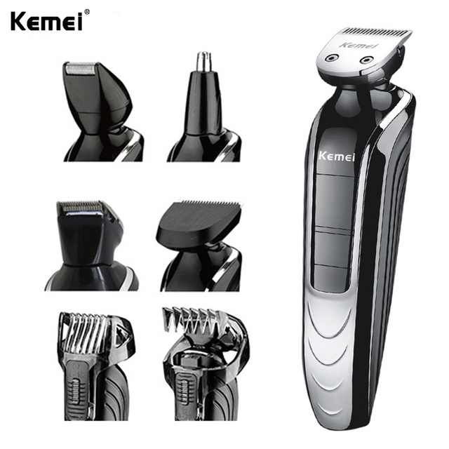 kemei KM-1832 Waterproof Electric hair clipper shaver beard trimmer nose hair rechargeable cutting haircut kit men face care