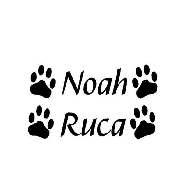 Online Shop Custom Pet Dog / Cat Name Decals,Personalized Vinyl Wall ...