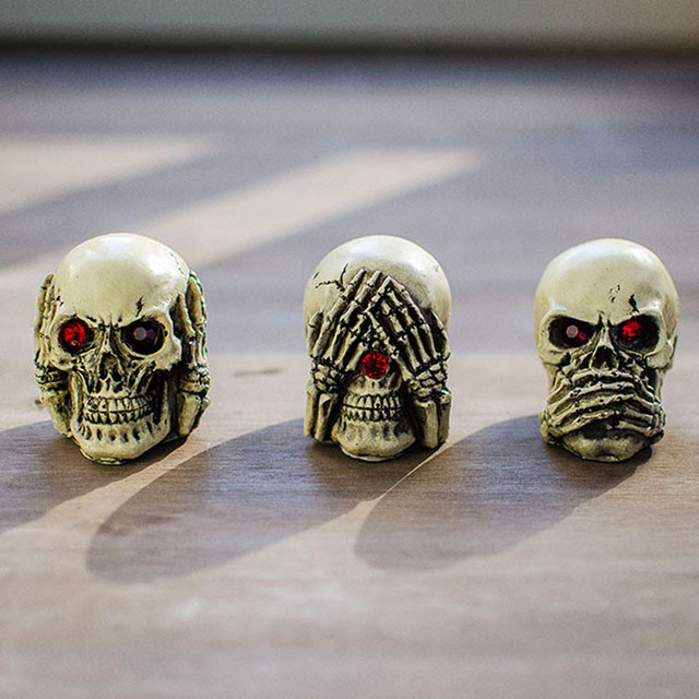 3PCS New Skull Dolls for Hallowmas Gifts Girls Boys Skull Sulpture Collection for Halloween Gifts 5*6cm #LNF